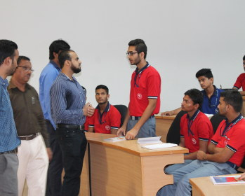 Faculty members of Petroleum Engineering conducting school connect program