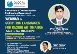 Scripting Languages for Design Automation Webinar by ECE Department