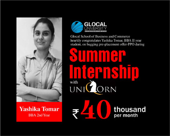 Pre-placement offer for BBA Second Year Student during Summer Internship