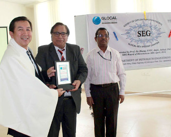 Prof. Jie Zhang (Zonal Director SEG) inaugurated SEG students Chapter at Glocal University