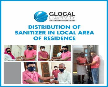 Distribution of sanitizer in local area of residence