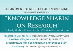 Webinar on  Knowledge Sharing on Research