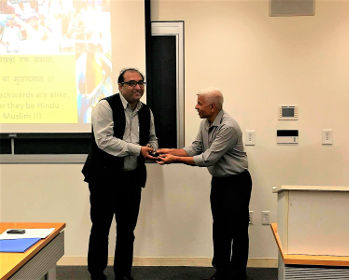 Prof. Khalid Anis Ansari's talk in the prestigious Harvard University