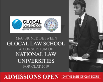 MoU between Glocal Law School and Consortium of National Law Universities for CLAT 2019