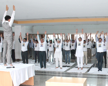 Celebration of International Yoga day on 21st June 2019